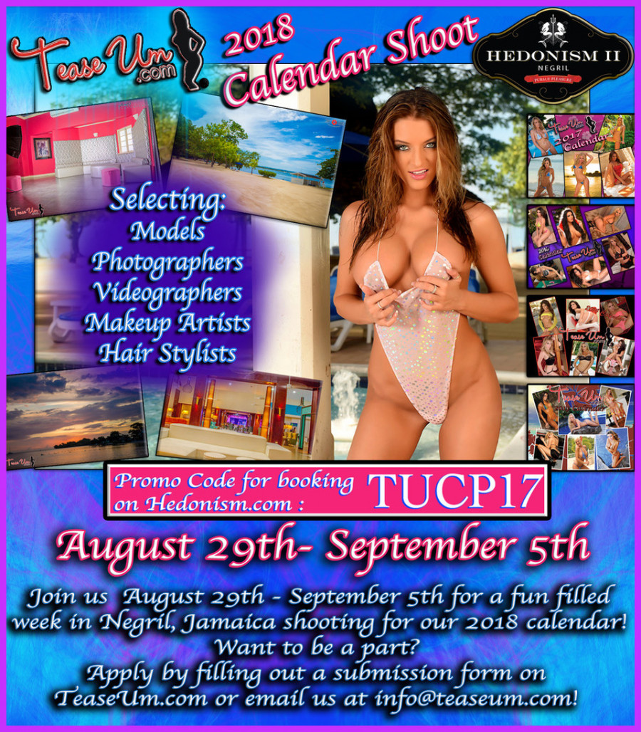 TeaseUm 2018 Calendar Shoot At Hedonism, Jamaica