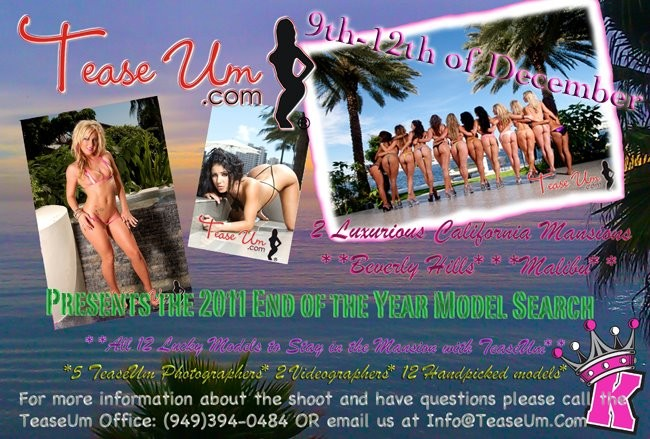 TeaseUm Year End Model Search Event