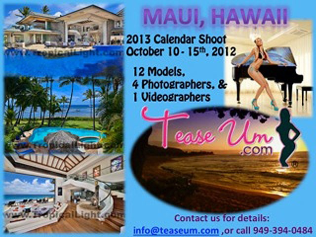 2013 Calendar Shoot - Maui, Hawaii Event