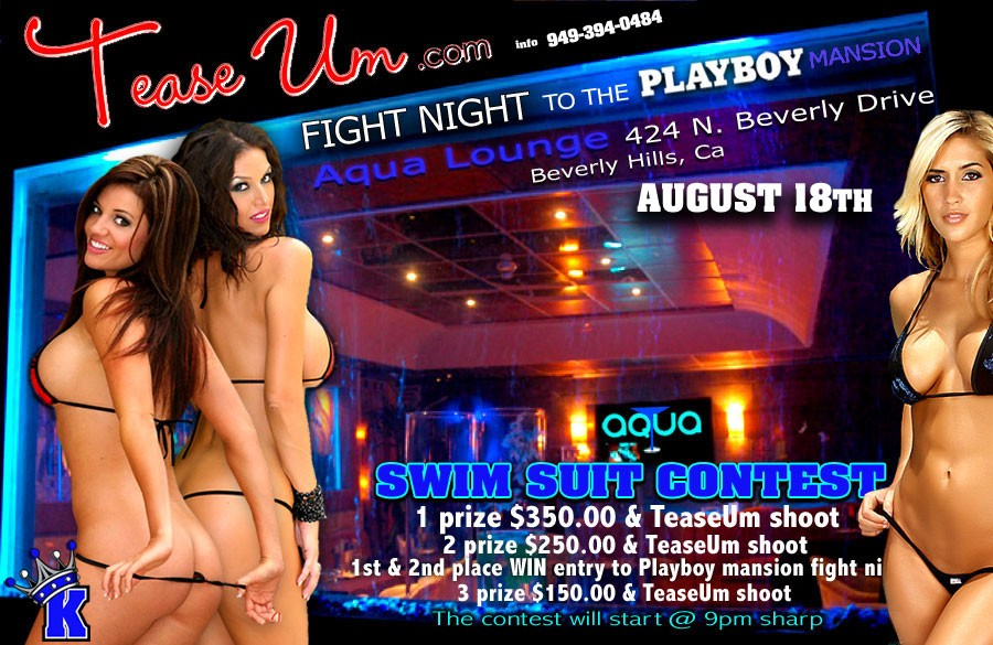 Fight Night To The Playboy Mansion Bikini Contest Event