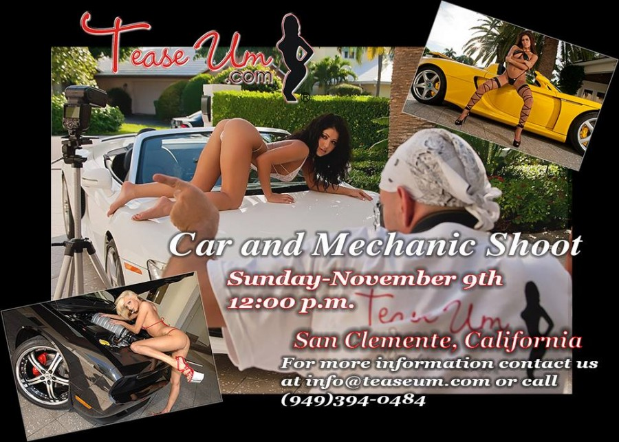 TeaseUm Car & Mechanic Photo Shoot Flyer