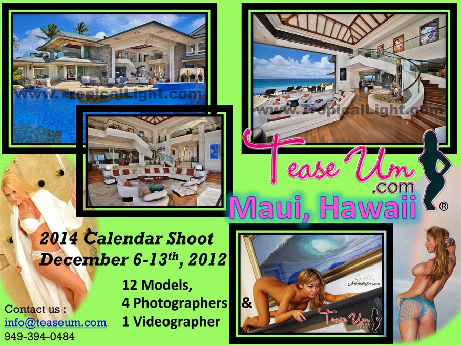 2014 Calendar Shoot - Maui, Hawaii Event
