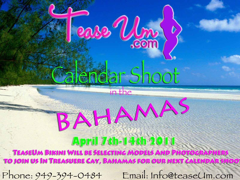 Calendar Shoot in the Bahamas! Event