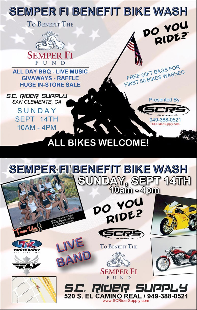 TeaseUm Semper Fi Fund Bike Wash Event