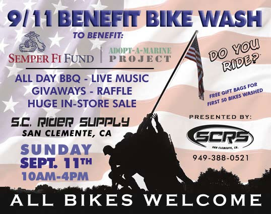 9/11 Benefit Bike Wash Event