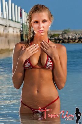 Brittney Meyers gorgeous babe in red bikini