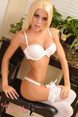 Lovely Lexi super gorgeous babe in white