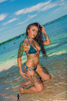 tattooed teaseum model trixie