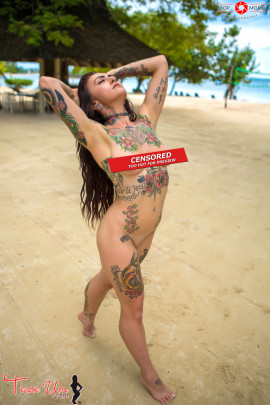 inked up nude amateur model trixie