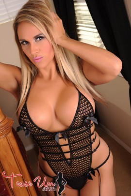 Brianna hot in black lingerie