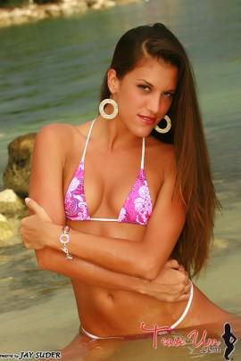 Candice Marie fit sexy bikini babe