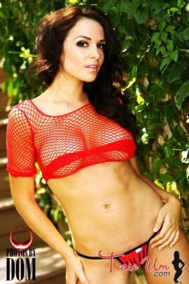 Carolina Montenegro hot babe in see through mesh pic