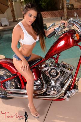 Crystal Knight Beautiful Biker Girl Tease