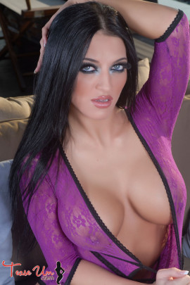 Crystal knight Captivating In See Through Lingerie