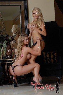 Dawnielle Royalty busty topless bikini girls