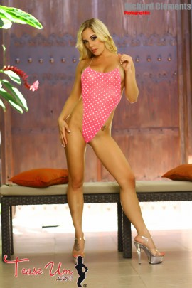 Kirra Kiss super hot in sheer pink bikini pic
