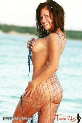 Nicole Mast wet and sandy babe pic