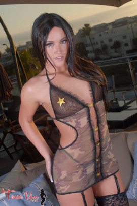 Olivia Chambers See Through Camo Lingerie
