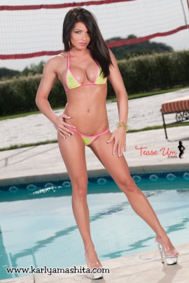 Stephanie Levine hot poolside shoot pic