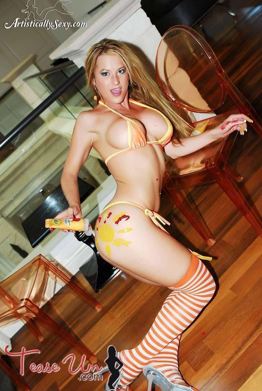 Dawnielle Royalty tiny yellow bikini babe thumb 1