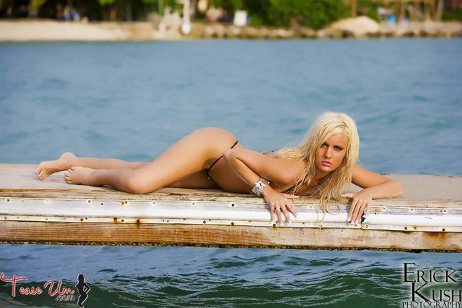 Sexiest bikini revealing large cup size