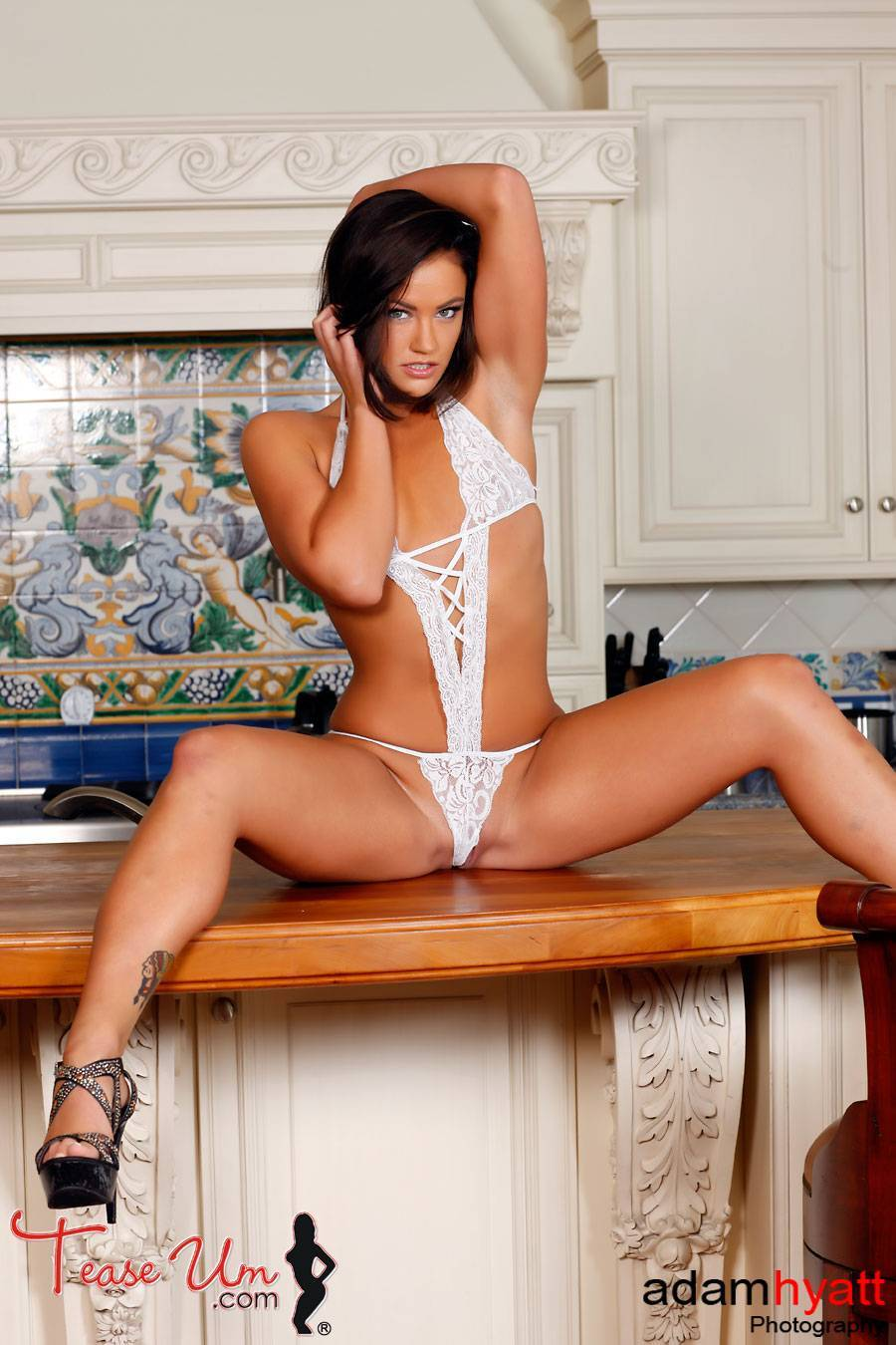 Olivia Chambers crazy hot shoot in the kitchen thumb 2
