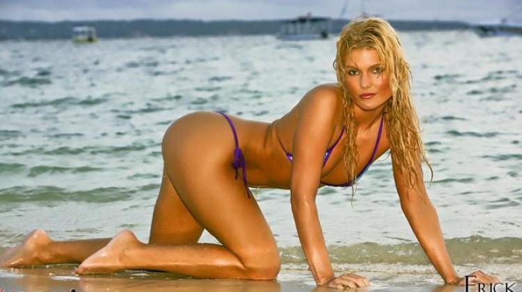 Mandy Mascaro Golden Bikini Beauty