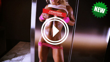 fitness model megan avalon topless workout video