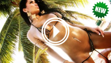 Jessica Pangelina oiled up and almost naked!