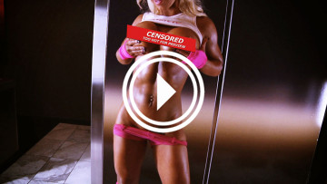 fitness model megan avalon topless workout video