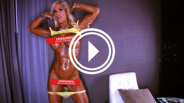 nude fitness model abs megan avalon
