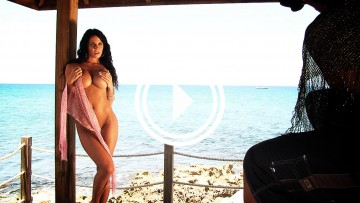 Savannah Stern gets nude in the cabana.