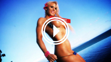 fitness model megan avalon topless video